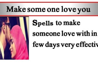 Spell to Make Someone Love You Forever
